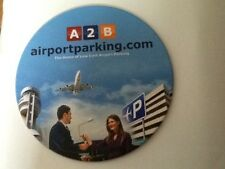 PROMOTIONAL  TRAVEL COMPANY PLASTIC DRINKS COASTER . AIRPORT PARKING COMPANY A2B