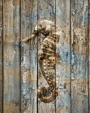 Seahorse Bathroom Bedroom Rustic Brown Blue Beach Theme Home Decor Picture