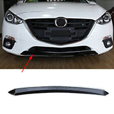Chrome Front Grill Grille Bumper Dec Cover Trim BLACK Fit For Mazda 3 2014-2016