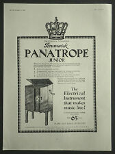 Brunswick Panatrope Junior Gramaphone 1927 Page Ad Advertisement 6770