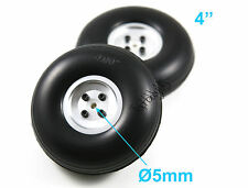 "1 Pair of 4"" Light Weight RC Plane PU Wheels, Aluminum Alloy Hub, US 006-04013"