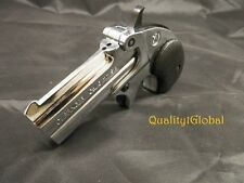 LIMITED EDITION Replica 1866 CROME Finish Double Barrel Derringer MOVIE PROP Gun