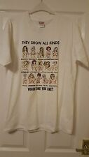 Mens T-Shirt Top - ADULTS ONLY - T-Tex - They Show All Kinds Of Boobs - Size L