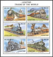 Lesotho 1996 Locomotives/Trains/Steam Engines/Railways/Transport 6v sht (s464)