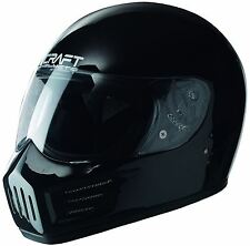 CRAFT RX6 HELMET GLOSS BLACK 55-56 cm SMALL + simpson decal STIG legal bandit UK