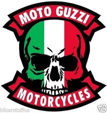 MOTO GUZZI MOTORCYCLE ITALY SKULL CAFE RACER STICKER GUZZI CAFE RACER STICKER