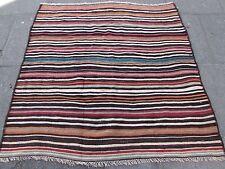Old tradizionale fatto a mano Tappeto Persiano Kilim Orientale Kilim Lana Marrone 145x150m