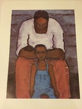 AFRICAN AMERICAN ART PRINT Father And Son Unknown Artist 20x16