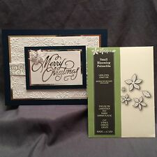 SMALL BLOOMING POINSETTIA die set POPPY STAMPS DIES 902 Christmas Holidays Set