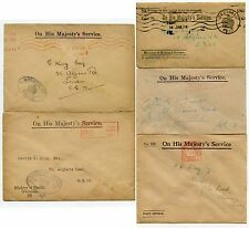 GB OFFICIAL PAID ENVELOPES 1917-35 GEORGE KING..MINISTRY FOOD HEALTH NAT.SERVICE
