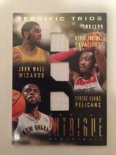 Kyrie Irving John Wall Tyreke Evans Terrific Trios jersey Panini Intrigue