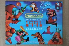 1991 Nintendo The Power Game Calendar - Super Mario Metroid Zelda Punch-Out Link