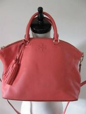 NEW $495 TORY BURCH THEA MEDIUM SLOUCHY SATCHEL CROSS BODY BAG SPICED CORAL
