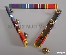 GSM + GOLD JUBILEE + DIAMOND JUBILEE + FIRE SERVICE L SERVICE MEDAL RIBBON BAR