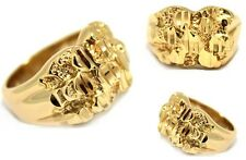 New! Men's Classy Solid 14k Real Heavy Gold Filled Classic Nugget Ring Style