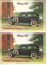 1933 Chevy Master Sedan Baseball Card Sized Cards - lot of 2 - Must See !!