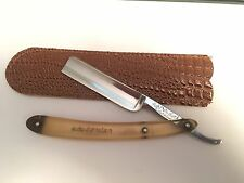 "Vintage Older 11/16 "" SP Dubl Duck Satin Edge Razor Shave Ready Solingen Germ."