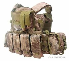 DLP Tactical 6094 MOLLE plate carrier vest w/ 6 pouches in Kryptek Nomad