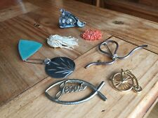 Job Lot Of 8 X Vintage Brooches Costume Jewellery Broaches Pins Unusual Rare