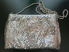Shiny Metal Mesh Silver clutch shoulder bag - Evening Bag