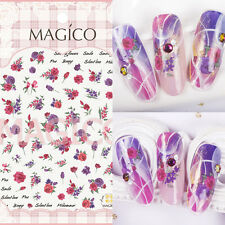 1 Sheet Ultra-thin Adhesive 3D Nail Art Sticker Manicure Decal Flower Design