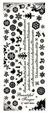 XXL One Stroke Sticker X-Mas Christmas Nicholas Angels Nailart UV Gel HOT003a
