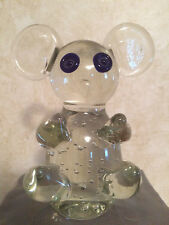 Crystal Mouse With Blue Eyes Figurine