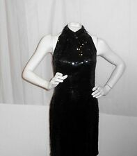 NITELINE by DELLA ROUFOGALI SEXY SEQUINED LITTLE BLACK DRESS -SIZE SMALL