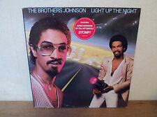 "LP 12 "" THE BROTHERS JOHNSON + DEDICACE - Light up the night - VG+/EX - HOLLAND"