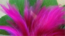 50+ SHOCKING PINK ROOSTER SADDLE FEATHERS 4-6""