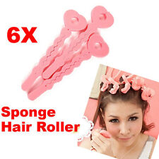 UN3F 6 Pcs Magic Hair Salon Care Roller Sponge Curlers New