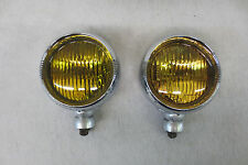 """ALLSTATE SERIES 2020 Fog Lights Lamps Pair Chrome Accessory AMBER 4"""""""
