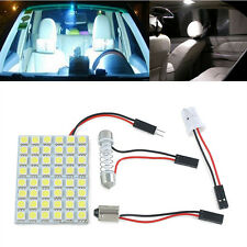 Car Interior Dome Panel White LED Light 48 SMD 5050 Lamp T10 Festoon BA9S 5W New
