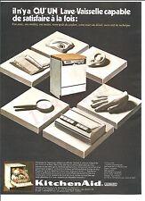 KitchenAid  Hobart Lave-Vaisselle  Advertising Publicité AD Vintage Années 70'