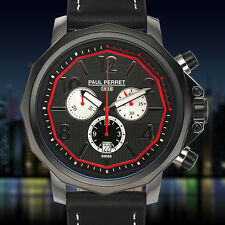 Paul Perret Swiss Chronograph Voltaire Mens Watch / RETAILS AT $1,525.00 SALE