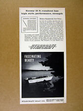 1960 Starcraft Viscount 16 ft Runabout boat photo vintage print Ad