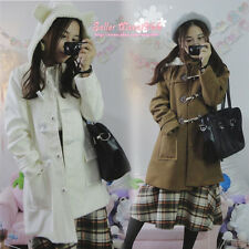 Japanese Harajuku Kawaii Lolita Preppy Style Wool Bear Ears Jacket Coat Overcoat