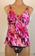 New Miraclesuit 471261Tankini Top Floral Coral ,Orange Size 12 $ 44.88
