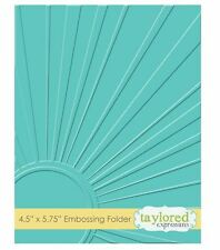 Taylored Expressions ~ A2 Embossing Folder ~ WALKING ON SUNSHINE   ~ TEEF14