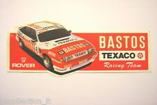 VECCHIO ADESIVO / Old Sticker RALLY ROVER BASTOS RACING TEAM (cm 19 x 7)
