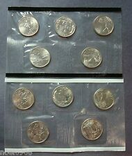 2003-P+D TEN COIN UNCIRCULATED STATE QUARTERS SET IN SEALED CELLOPANE (Q-03)