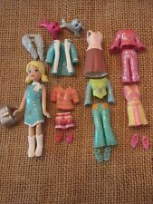 Polly Pocket Lot Doll Glitter Sparkly Sparkle Clothes Outfits Shoes Pet Lot F33