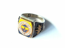 Turkish Sports Club STERLING MEN's RING Fenerbahce Spor Kulubu 1907, size 14