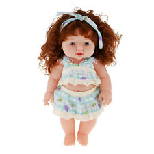Reborn Realistic Silicone Vinyl Baby Girl Doll in Green Clothing Kids Gift