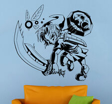 Princess Zelda Wall Decal Majoras Mask Vinyl Sticker Home Wall Art Decor (12zda)