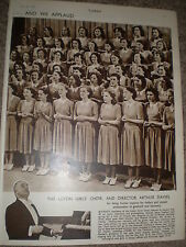 Photo article Luton Girl's choir and director Arthur Davies 1949 ref K