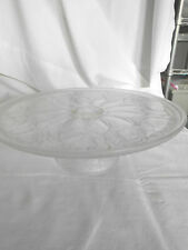 Frosted glass with roses cake stand holder