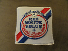 VINTAGE RED, WHITE & BLUE Special Lager BEER PATCH -  NEW!