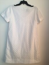 kate spade new york short-sleeve eyelet shift dress  sz 4