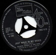 """❤ JUST WALK IN MY SHOES ❤ GLADYS KNIGHT - Northern Soul Classic  7"""" 45 LISTEN"""
